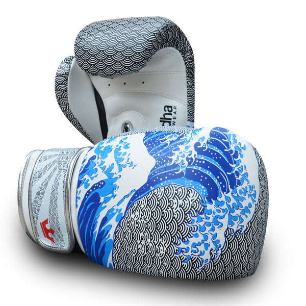 Boxing Gloves Muay Thai Kick Boxing Fantasy Tsunami Special Edition - Buddha Fight Wear
