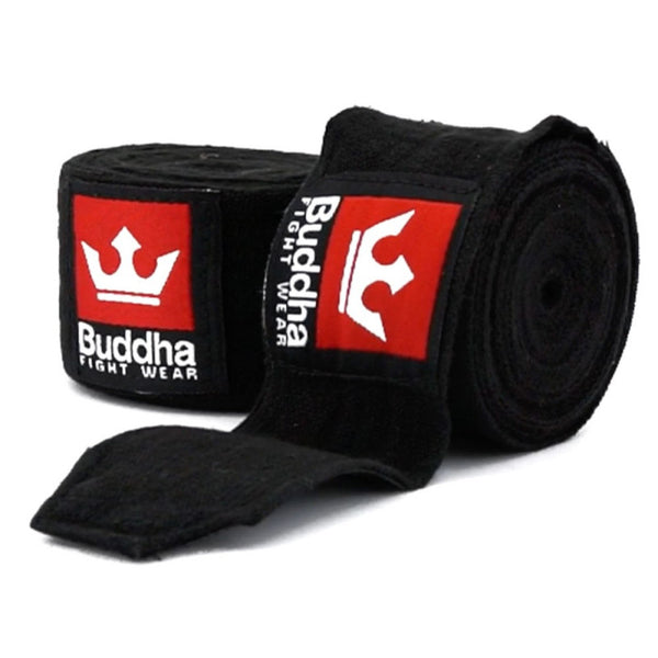 Semi Elastic Boxing Bandages 4,5 Meters Black - Buddha Fight Wear