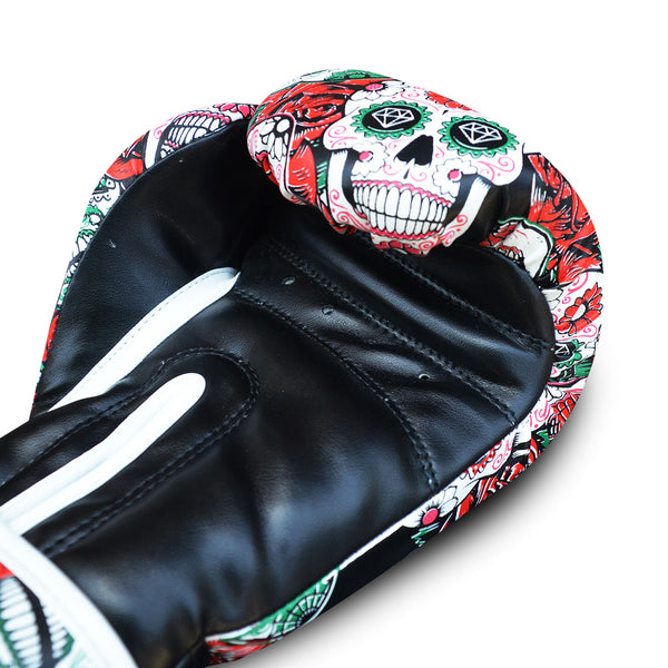 Boxing Gloves Muay Thai Kick Boxing Mexican Red - Buddha Fight Wear