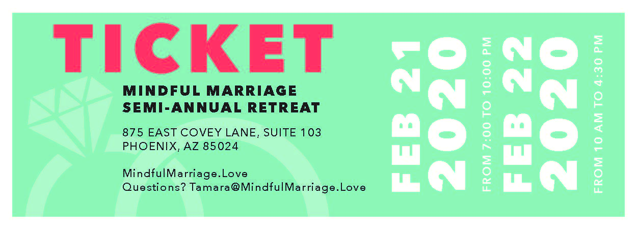 Mindful Marriage Semi-Annual Retreat Phoenix (General Couple Ticket)
