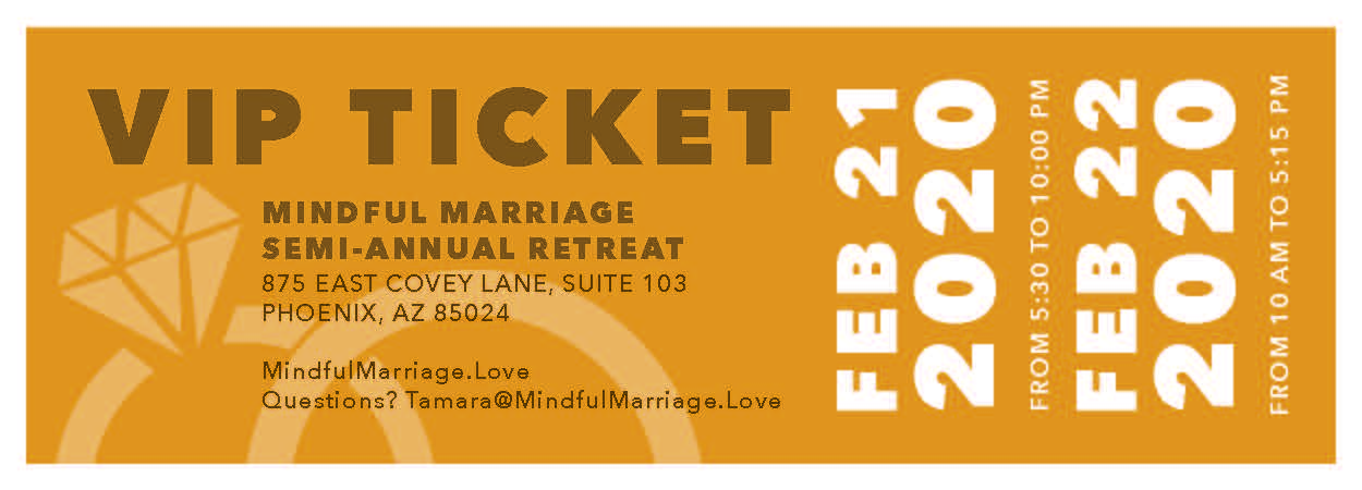 Mindful Marriage Semi-Annual Retreat Phoenix (VIP Couple Ticket)