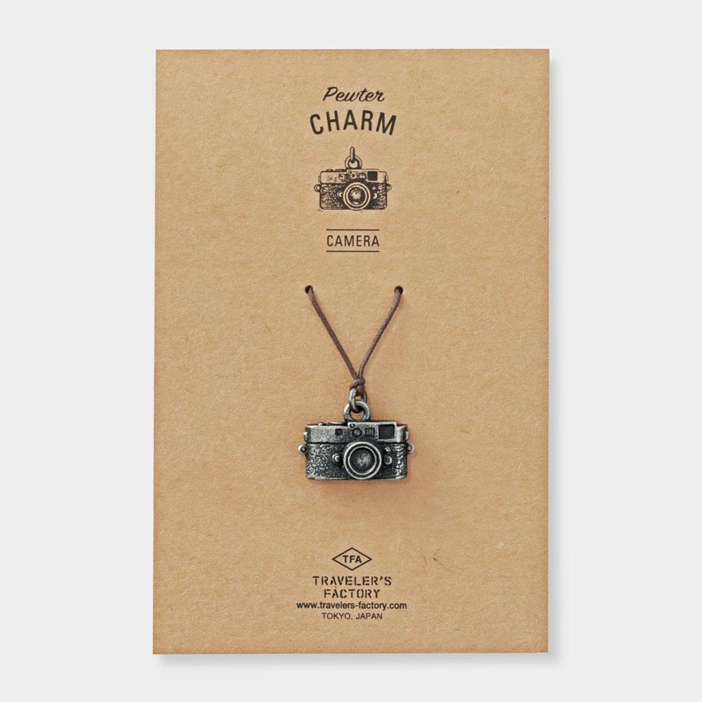 pewter charm, camera for traveler's notebook at eyes open project