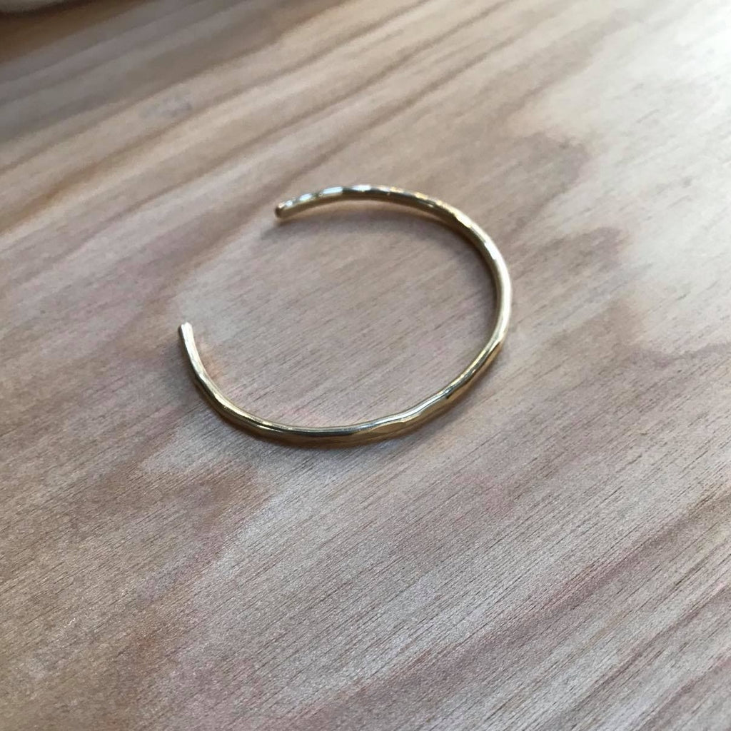 Hammered Brass Stacking Cuff