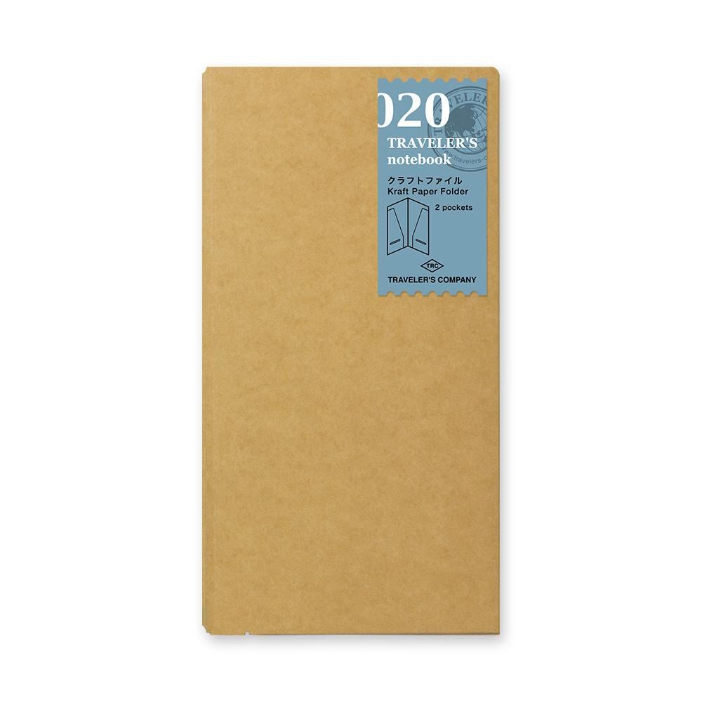 020 traveler's notebook kraft paper folder at eyes open project