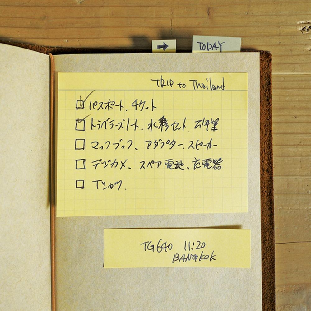 022 traveler's notebook sticky notes at eyes open project