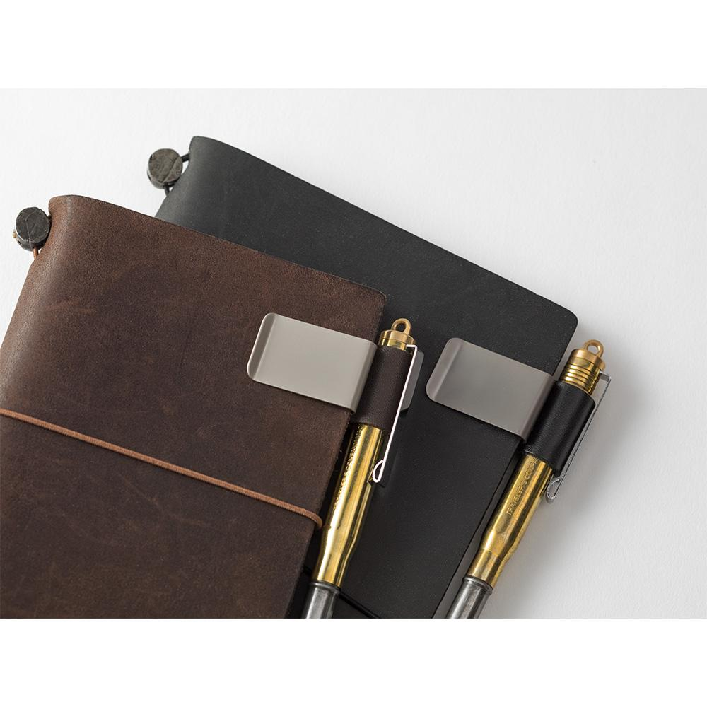 black pen holder from traveler's notebook at eyes open project