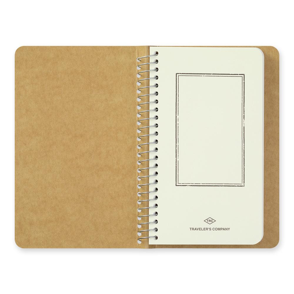 spiral ring notebook; blank MD paper white