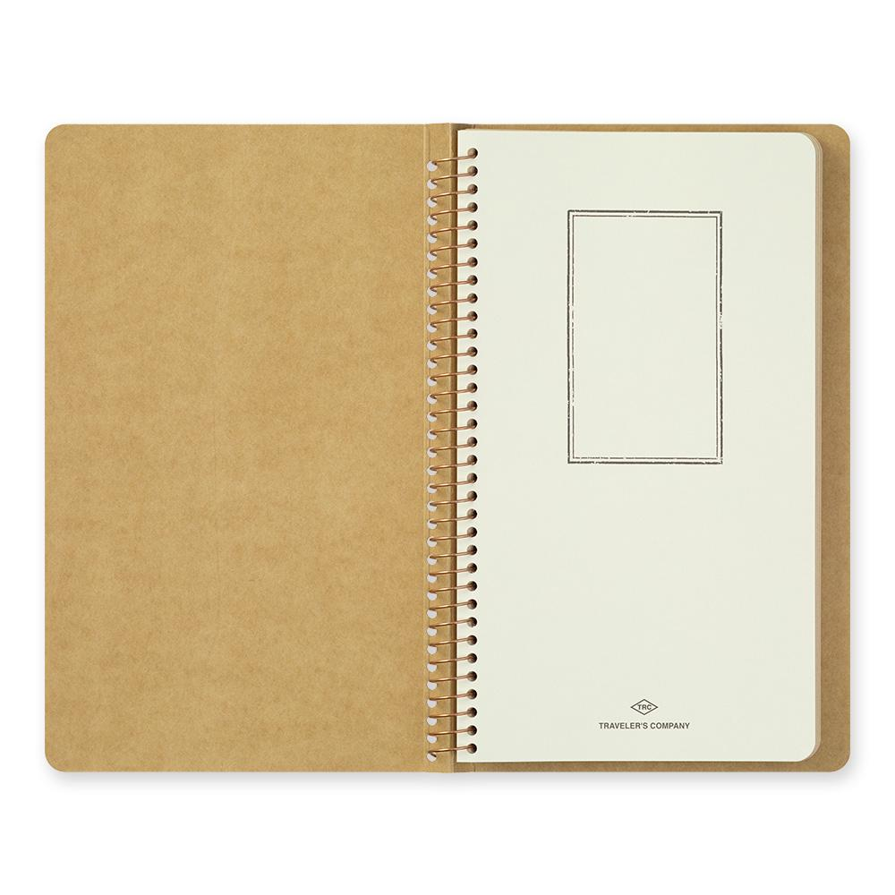spiral ring notebook, A5 Slim Blank DW kraft paper at eyes open project