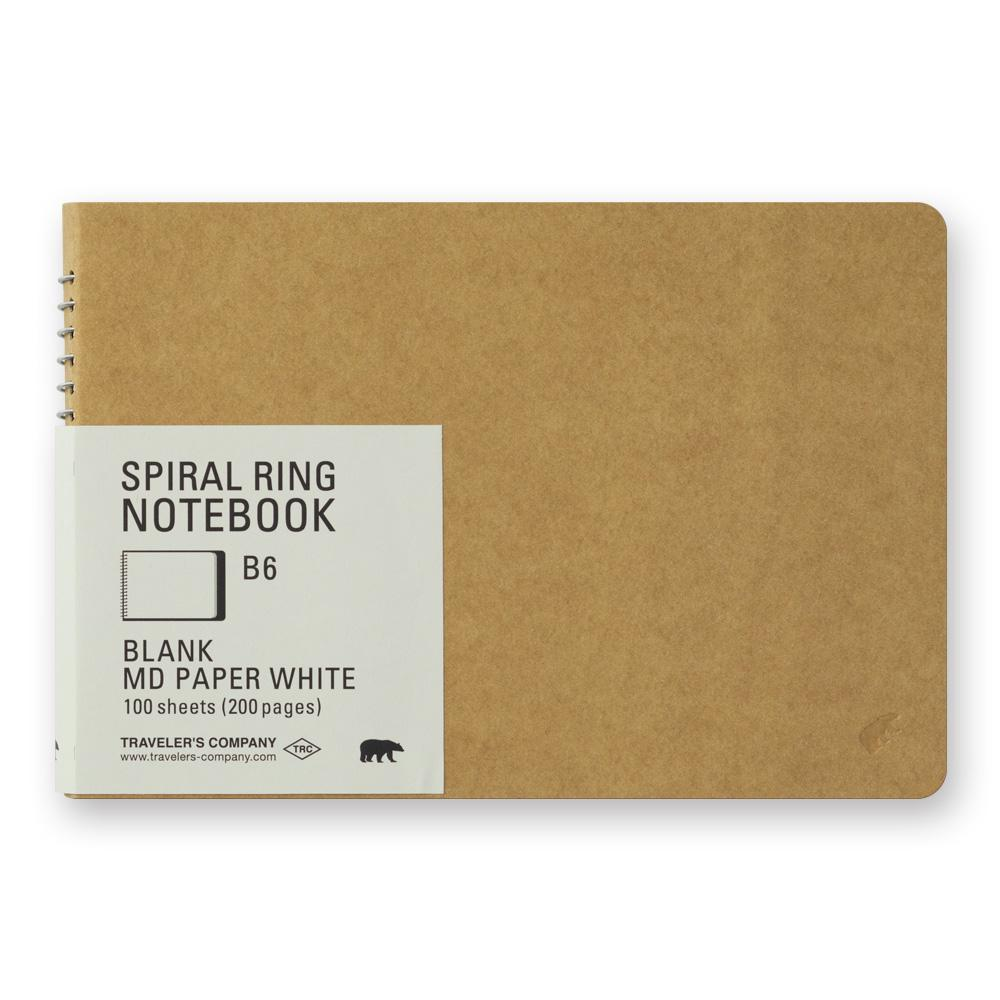 spiral ring notebook (B6) Blank MD paper white at eyes open project