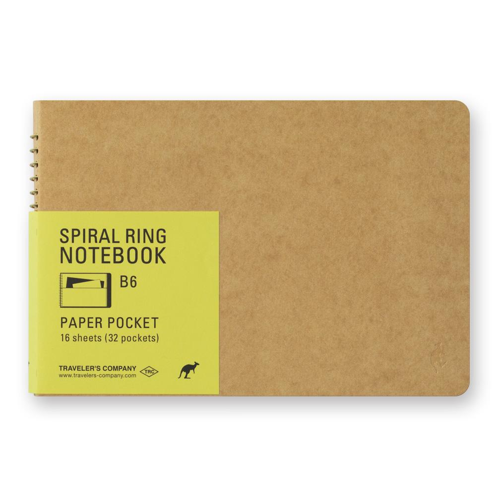 b6 paper pocket spiral ring notebook at eyes open project