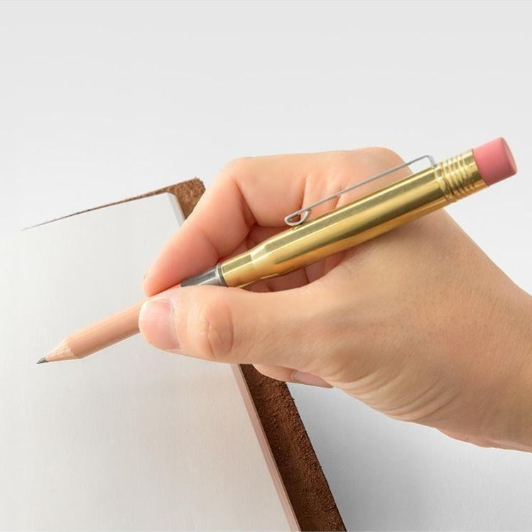 brass pencil by Traveler's Company at eyes open project