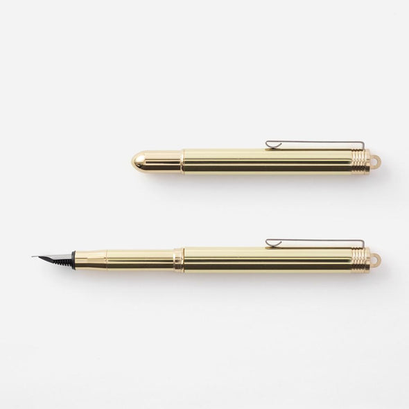 TRC Brass Fountain Pen. Traveler's Company at Eyes Open Project