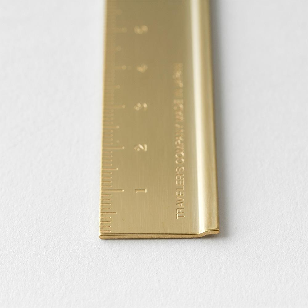 TRC brass ruler from traveler's company at Eyes Open Project
