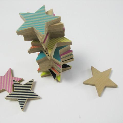 Wooden Domino Star Cookies