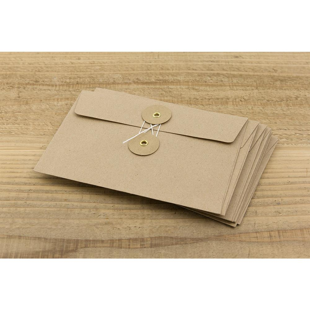 kraft envelope with string, set of 8 from travelers notebook company at eyes open project