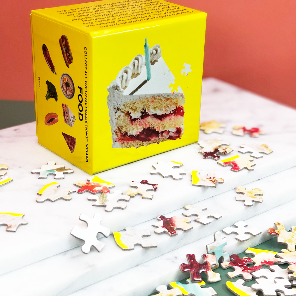 Areaware miniature birthday cake puzzle