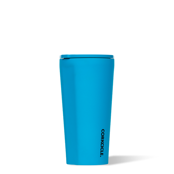 Corkcicle neon blue insulated tumbler