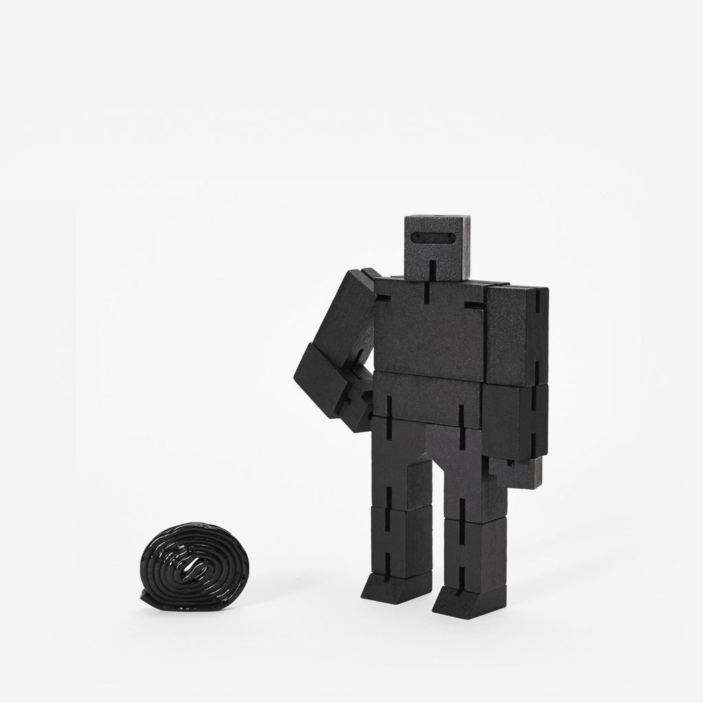 Areaware Cubebot Small Black Eyes Open Project