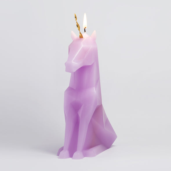 Pink Einar unicorn pyropet skeleton candle