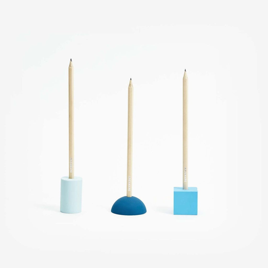Areaware Eraser Pencil Stands Set Blue Eyes Open Project
