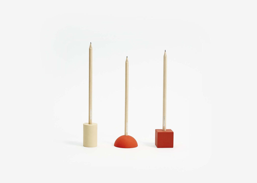 Areaware Eraser Pencil Stands Set Red Eyes Open Project
