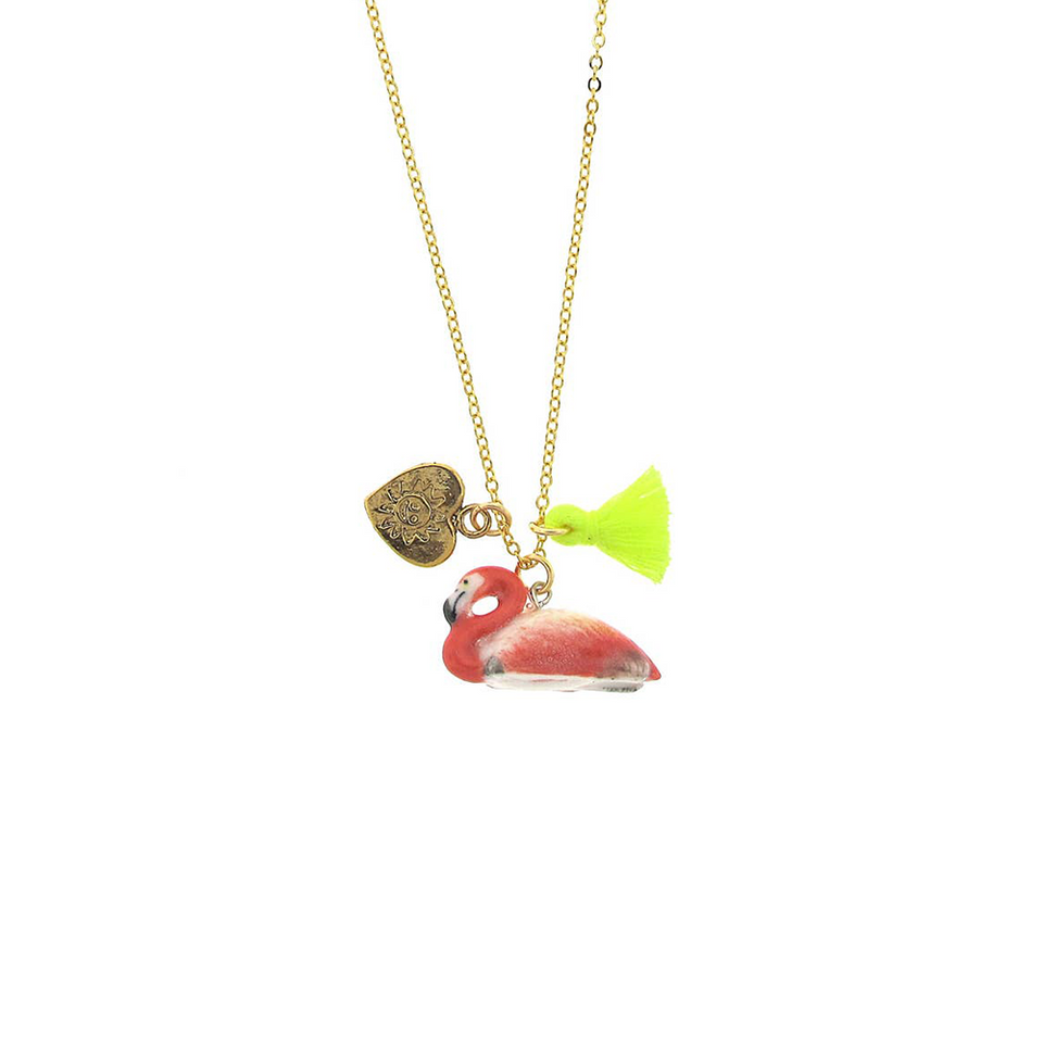 Flamingo Lil' Critters Necklace