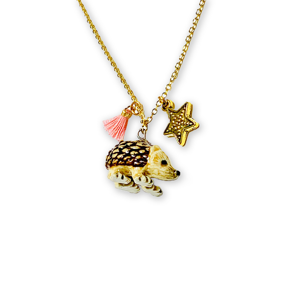 Hedgehog Lil' Critters Necklace