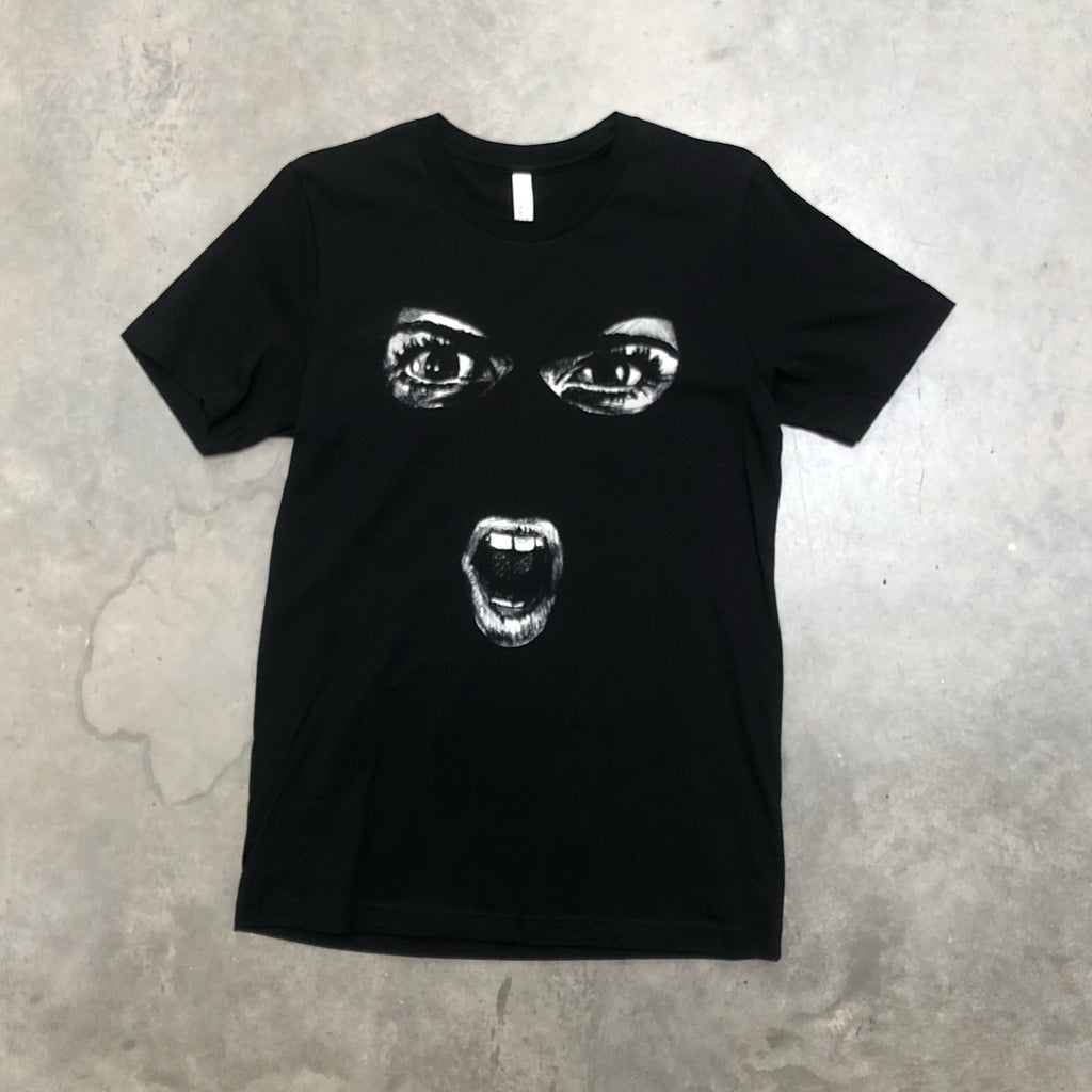 Missme scream tee in black