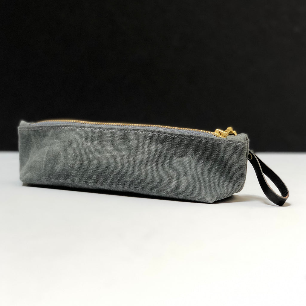 Small Waxed Canvas Zip Bag