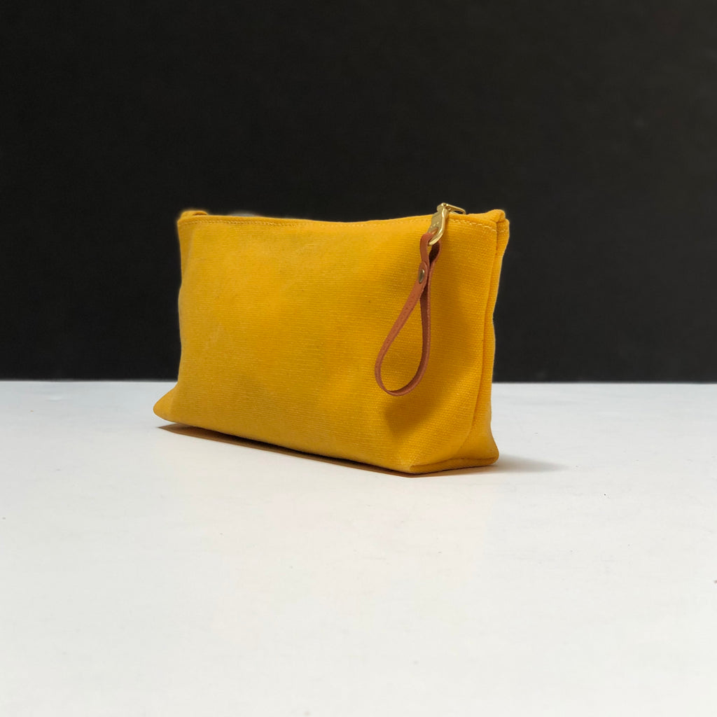 Medium Waxed Canvas Zip Bag