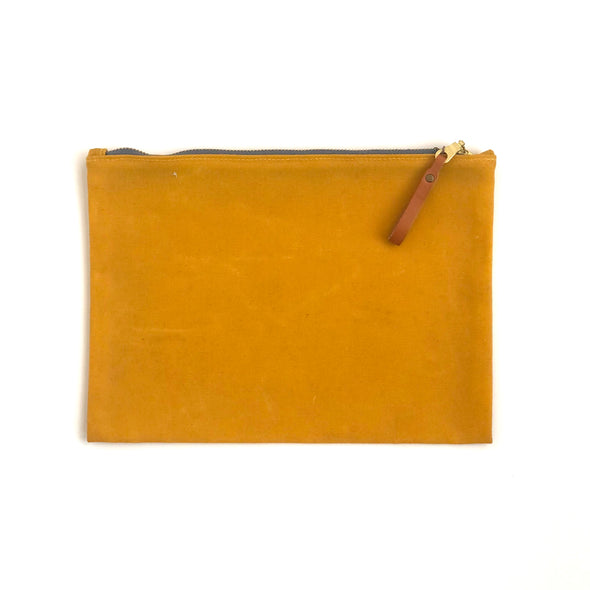 Eyes Open Winter Session small waxed canvas zip folio