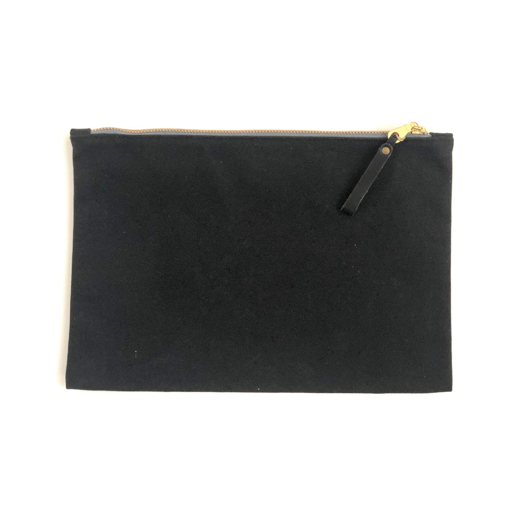 Small Waxed Canvas Zip Folio