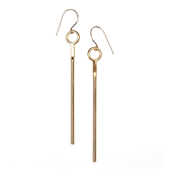Gold Knocker Drops Earrings