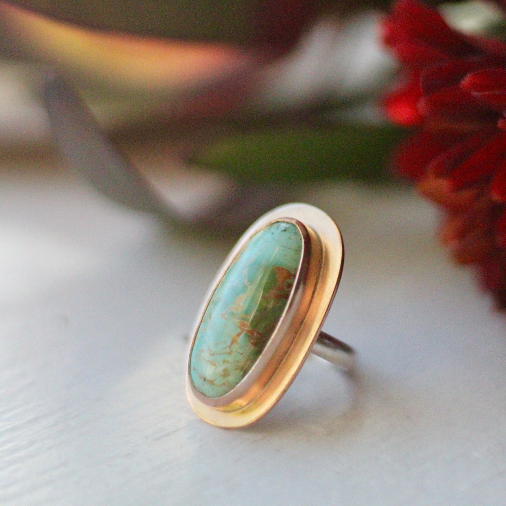 Golden Oval Ring