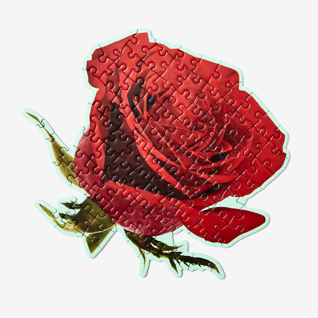 Areaware Minature red rose puzzle