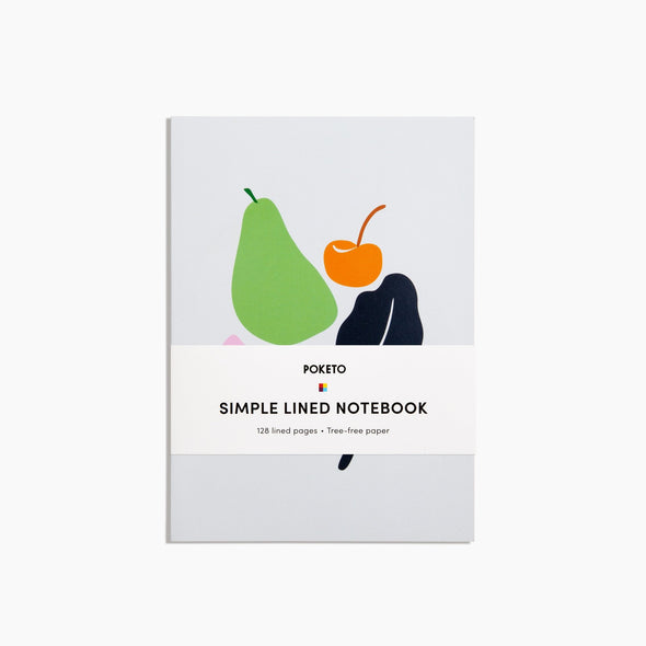 Poketo Simple Lined Notebook Fruit Eyes Open Project