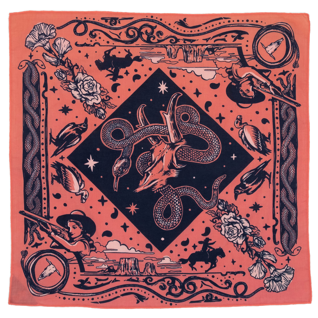 """Rattle and Hiss"" Organic Cotton Bandana"