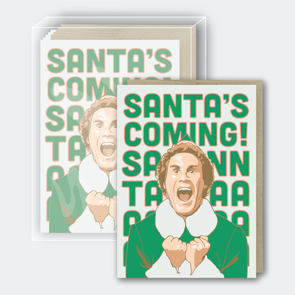 Santa's Coming Card - Box Set of 10