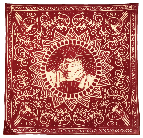 Bandits the good fight red bandana