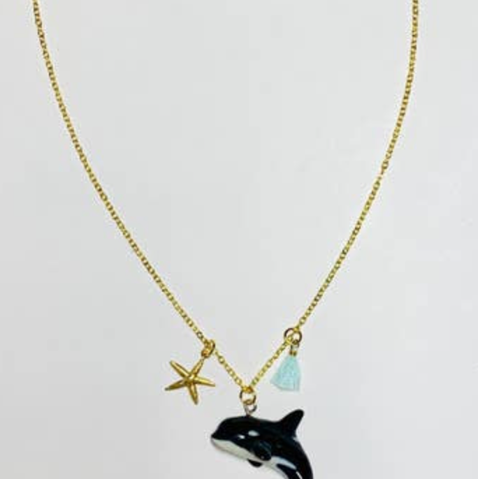 orca whale necklace eyes open project