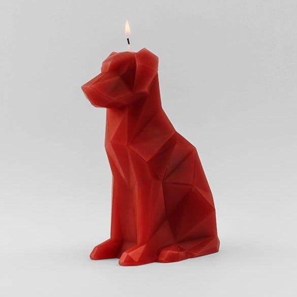 red Pyropet Voffi dog skeleton candle