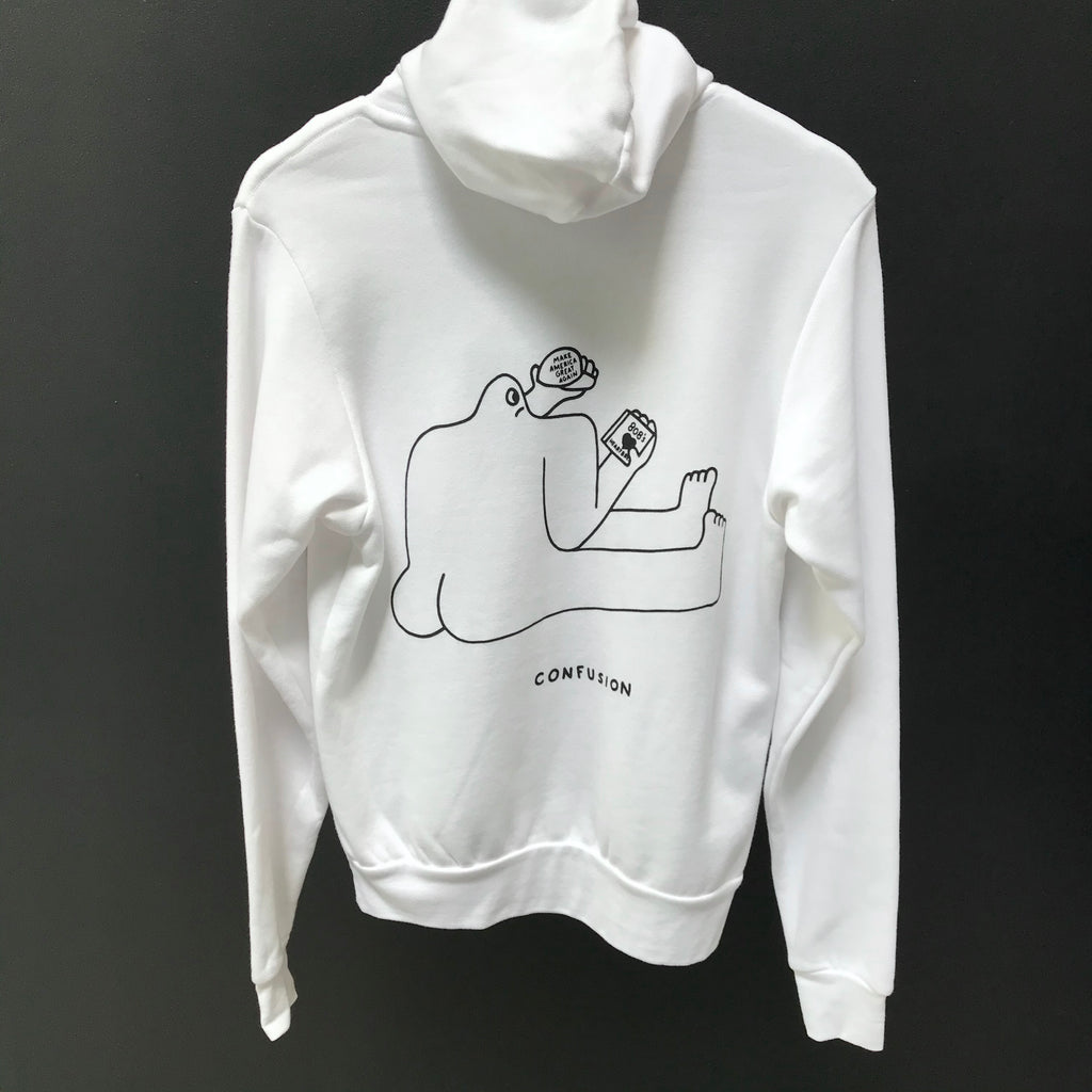 White PONY confusion hoodie