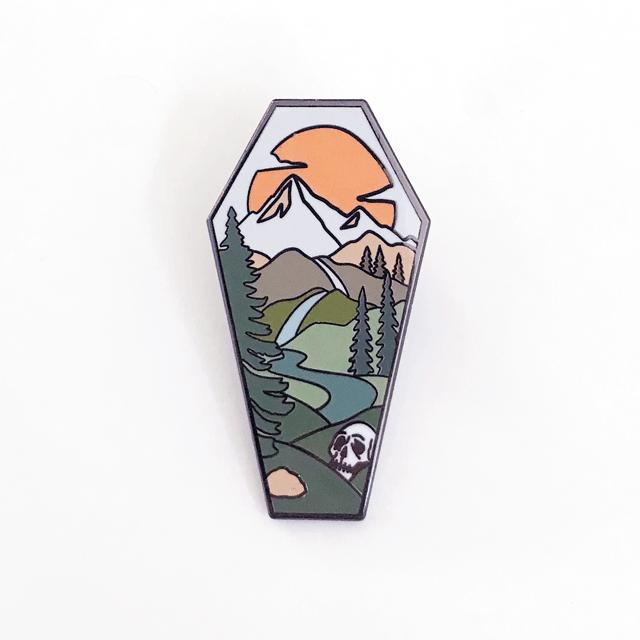 Landscape Coffin Pin