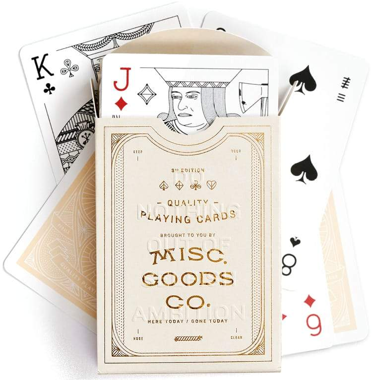 Misc. Goods Co. Playing Cards Ivory Eyes Open Project