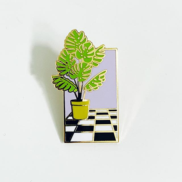 Plant Wave Pin