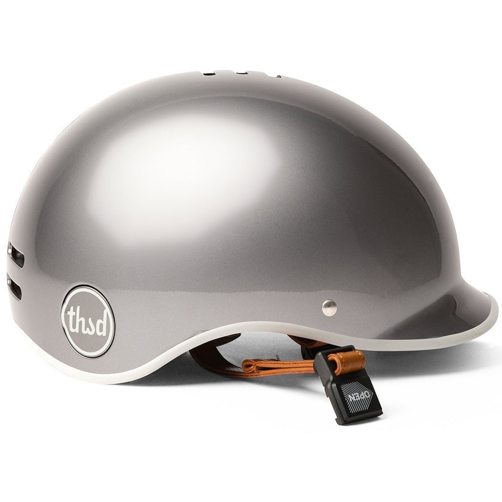 thousand metallics collection helmet in polished titanium