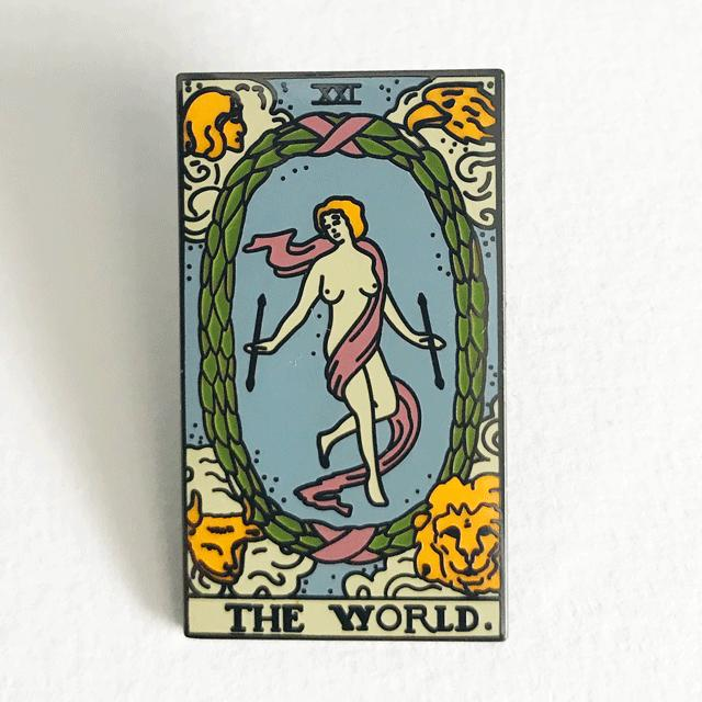 World Card Pin