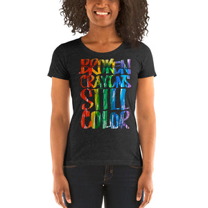 Broken Crayons Still Color Ladies' short sleeve Bella + Canvas  t-shirt