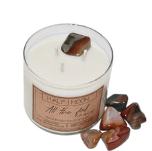 Load image into Gallery viewer, All the Fall with Desert Jasper - 3 wick (LIMITED EDITION)