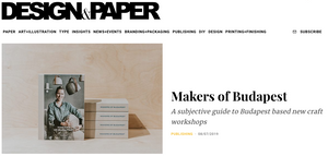 Makers of Budapest on Design & Paper